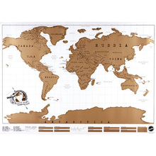 Free Shipping Travel Scratch Map Scratch Map Of The World Poster Scratch Map ARE4(China (Mainland))