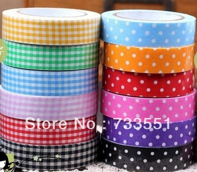 Free Shipping,DIY scrapbooking products,album washi tape,cotton fabric tapes, Fabric Tape Decoration Stationery Sticker Label(China (Mainland))