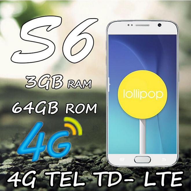 Fingerprint LTE 4G S6 Phone MTK6582 MTK6592 Octa Core 3GB Ram 64GB Rom 16.0MP Android 5.0 1920*1080 Metal HDC S6 edge cell phone(China (Mainland))