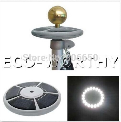 Solar Powered self charging light/Flagpole lighting/Landscape lighting, /Entrance light no wiring required(China (Mainland))