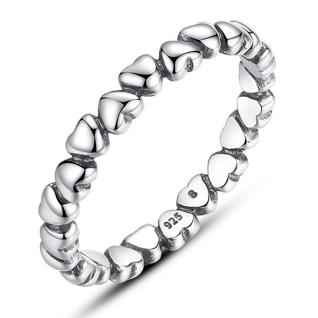 Аутентичные 925 стерлингового серебра в форме сердца любви совместим с подходит пандора кольцо кристалл серебро 925 первоначально юбилейной ювелирных изделий