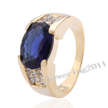 Victoria Wieck fashion Jewellery Sapphire 10KT Yellow Gold Filled Wedding Band Ring Sz 5-10 Free shipping(China (Mainland))
