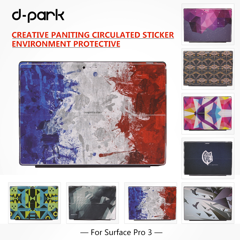 D-park Creative Painting Back Sticker Skin Cover for Microsoft Surface Pro 3 Tablet Case Cover For Surface Pro 2 Skin Sticker(China (Mainland))
