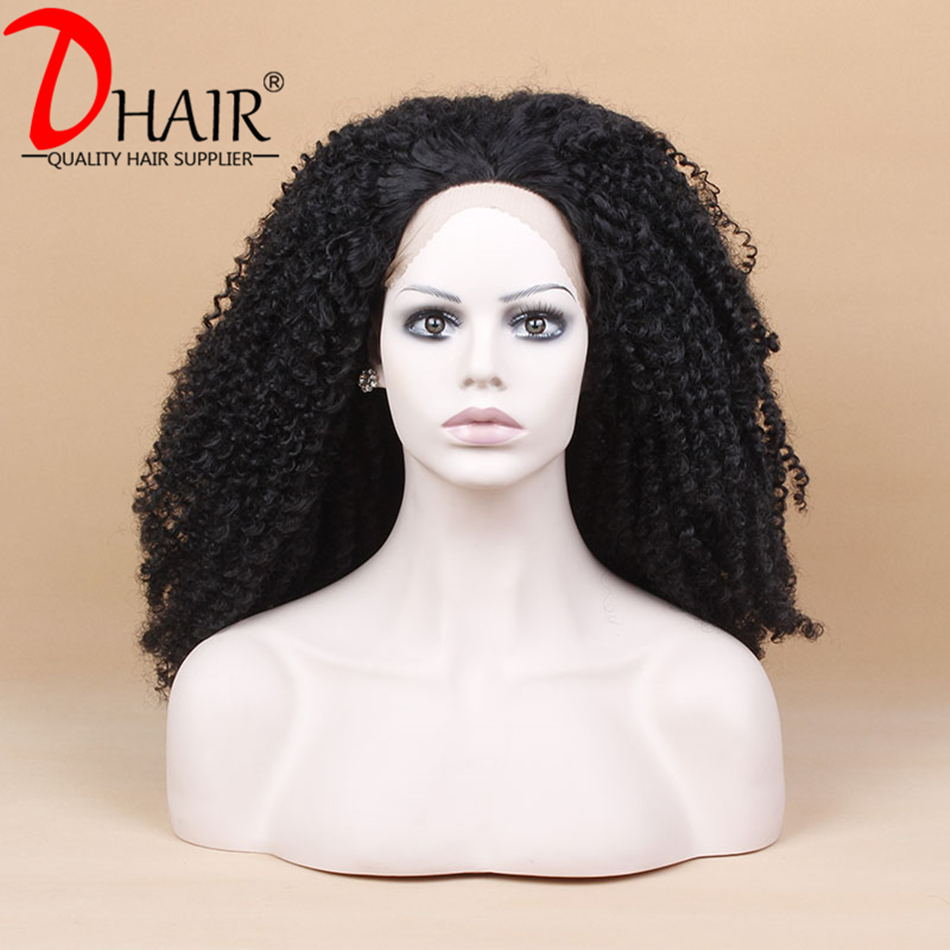 High Quality Synthetic Lace Front Wig Heat Resistant Hair Black Kinky Curly Fiber Cheap Synthetic Wigs For Black Women