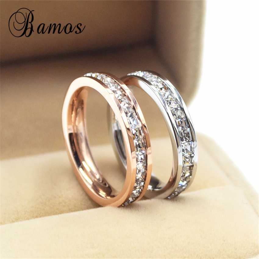 90% OFF ! Female Girls Geometric Ring 925 Sterling Silver Filled & Rose Gold Ring Promise Wedding Engagement Rings For Women(China (Mainland))