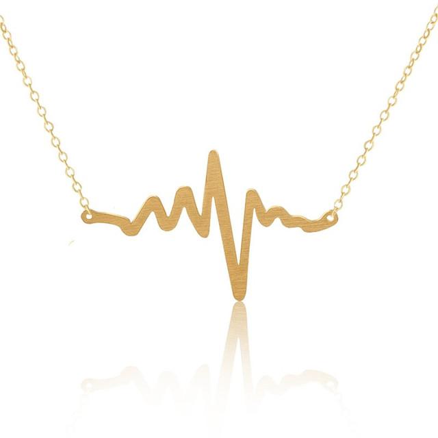 Naszyjnik minimalistyczny Heartbeat 2 kolory