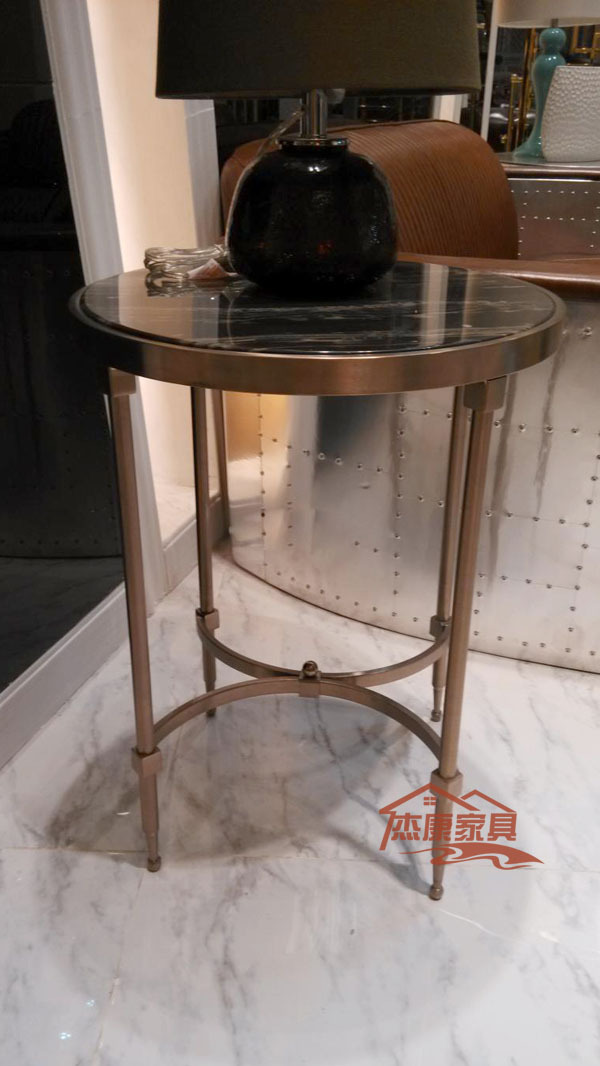 Post modern neo classical gold plated horn a few small for Small gold side table