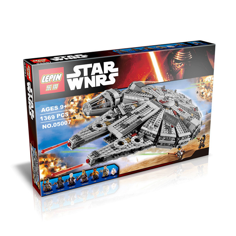 Whole Sale Price LEPIN 05007 Star Wars Millennium Falcon Figure Toys building blocks minifigures compatible with