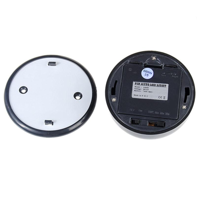 New Arrival 6 LED Bulbs Pir Sensor Motion Detector Light Lamp Black Motion Sensor 85 x 50 mm / 3.35 x 1.97 inch(China (Mainland))