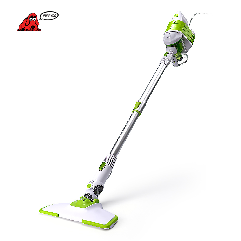 PUPPYOO Low Noise Home Rod Vacuum Cleaner Handheld Dust Collector Household Aspirator White&Green Color WP521()