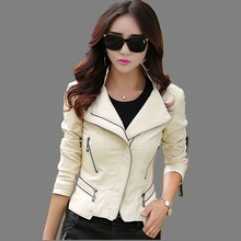 Plus Size 5XL New 2015 autumn and winter women leather clothing coat  female slim Rivet leather jacket women women's outerwear(China (Mainland))