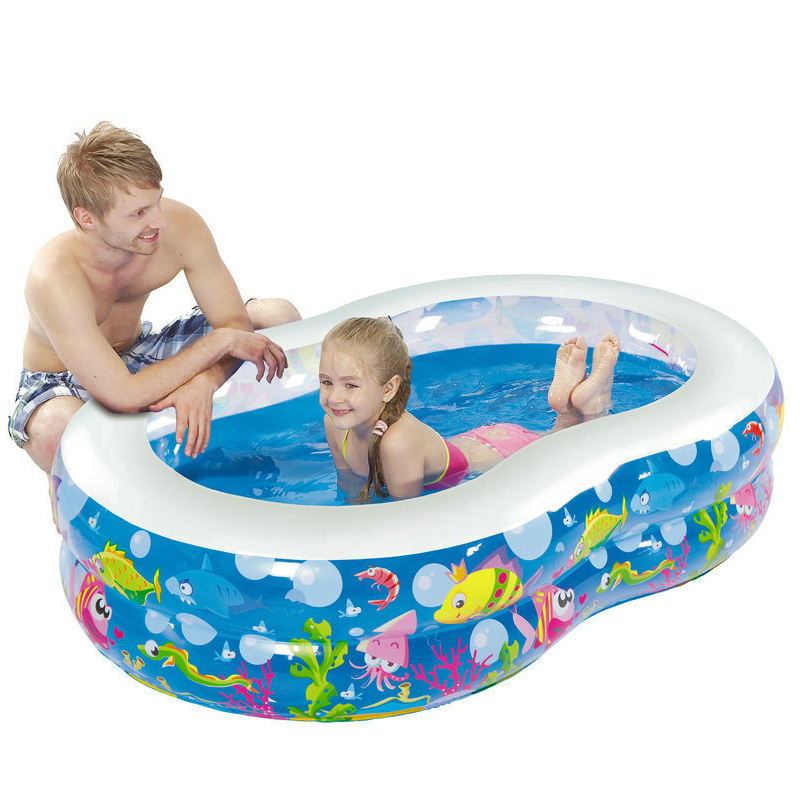 Inflatable <font><b>Pool</b></font> Outdoor Large Plastic <font><b>Swimming</b></font> <font><b>Pools</b></font> Figure 8-shape Baby Kid <font><b>Pool</b></font> Paddling Piscina Safety <font><b>Portable</b></font> <font><b>Swimming</b></font> <font><b>Pool</b></font>