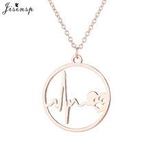 Jisensp mignon astrologie médaillon étoile lune pendentif collier pour filles femmes bijoux Simple rond en acier inoxydable colliers kolye(China)