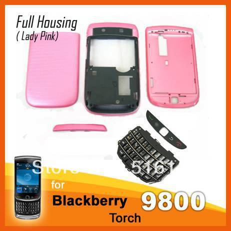 Free Shipping   High Quality Pink full housing Cover Case for Blackberry Torch 9800 Professional selling Venezuela LE9222