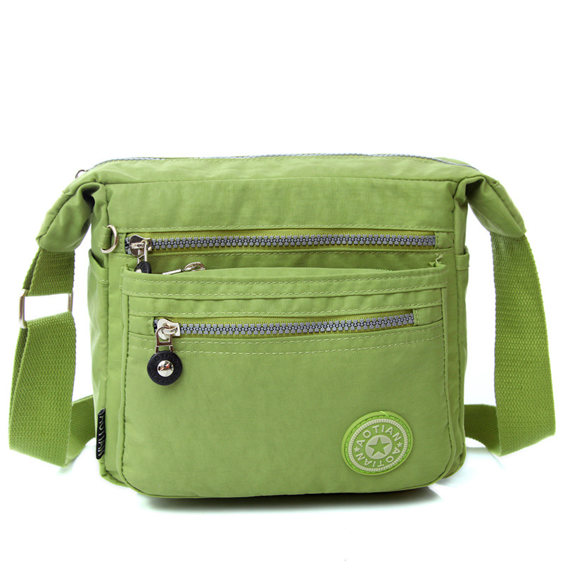 Brand AOTIAN 8 Colors Kipled Solid Appliques Daily Package Waterproof Cloth Bags Square Shoulder Bag(China (Mainland))