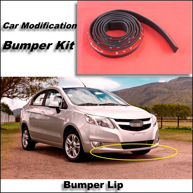 Bumper Lip For Chevrolet Sail Front Spoiler Skirt / Bumper Kit / Deflector Lips Car Scratch Proof Adhesive Strip(China (Mainland))