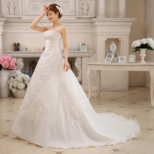 Free Shipping 2015 Fashionable Romantic Sexy Vintage Belt Wedding Dresses Long Train Vestidos Plus Size Bridal Dress Casamento(China (Mainland))