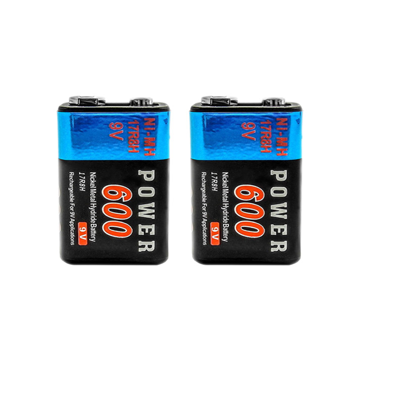 2pcs Power 9V Voltage 600mAh Rechargeable Ni MH NiMH Battery 17R8H Hot Selling
