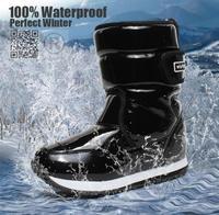 высокое качество детские снега сапоги мальчик девочка Сапоги зимние водонепроницаемые Нескользящее плюшевые теплую обувь дети обувь Рождественский подарок новая мода