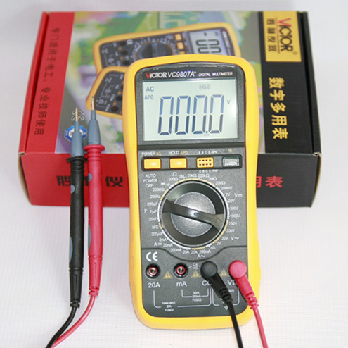 Free shipping victory Digital Multimeter VC9807A + four and a half conductance / capacitance / frequency universal table(China (Mainland))