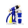 1Set High Quality Water Spray Gun With Connection Parts Brass Metal Nozzle Car Washing Machine Gun