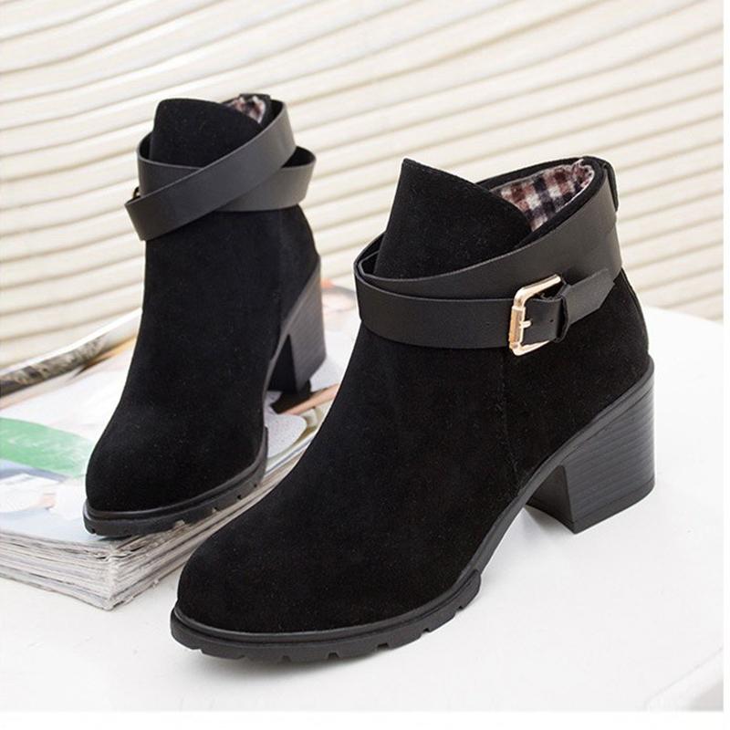 Fashion High Heel Shoes Woman Boots Winter 2015 Ladies Platform Boots Femininas Women Winter Boots