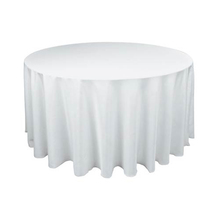 Tablecloth White Round Satin 90″