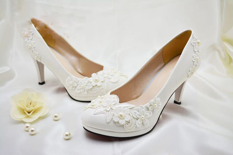 2016 Nicest Flower Girl Dress Shoes White Pearl wedding Bridal shoes Party Prom Wedding Anniversary Party Shoes Free Shipping
