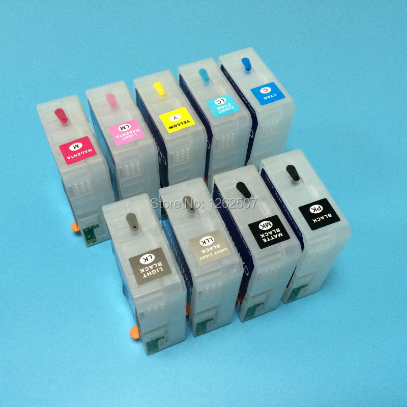 For Epson 3880 T5801 Compatible ink cartridge refill -9colors<br><br>Aliexpress