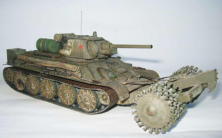 Red Star model ZV3580 1/35 Soviet T-34/76 tank company demining roll(China (Mainland))