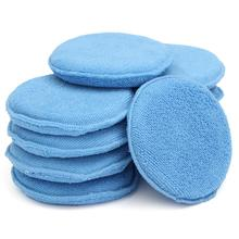 New 10pcs Car Clean Cleaning Drying Towel Microfiber Wax Applicator Pads with Hand for Pocket(China (Mainland))