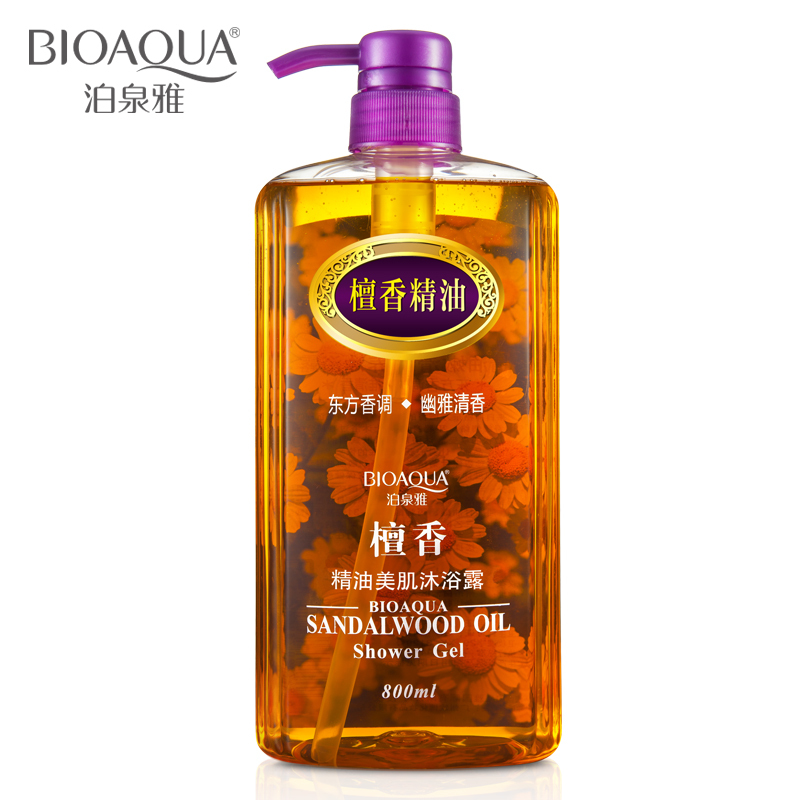 Sandalwood Essential Oil Shower Gel Reduce Fine Lines Exfoliating Moisturizing Nourishing Beauty Body Lasting Fragrant Gels