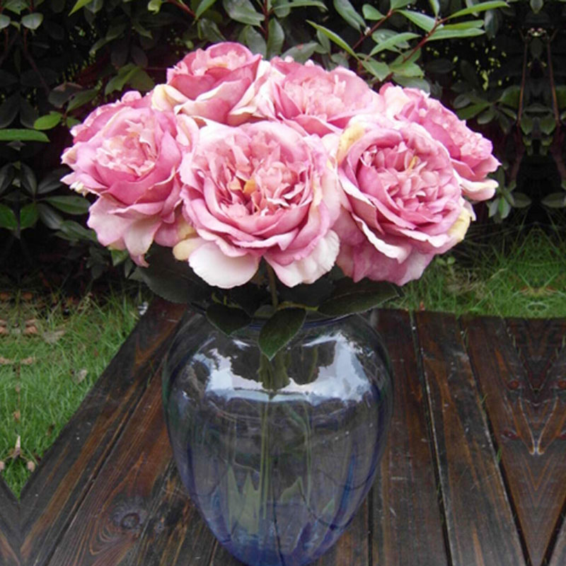 Hot 2016 New Arrival 1 Bouquet Single Big Fower Artificial Peony Silk Flowers Wedding Party Pink(China (Mainland))
