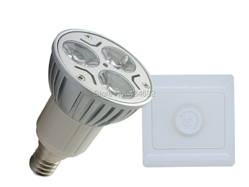 E14 Spotlight Bulb 3X1W Dimmable White/Warm White 3W High Power LED Light Lamp Bulb + Dimmer Controller Free HK Post Shipping(China (Mainland))