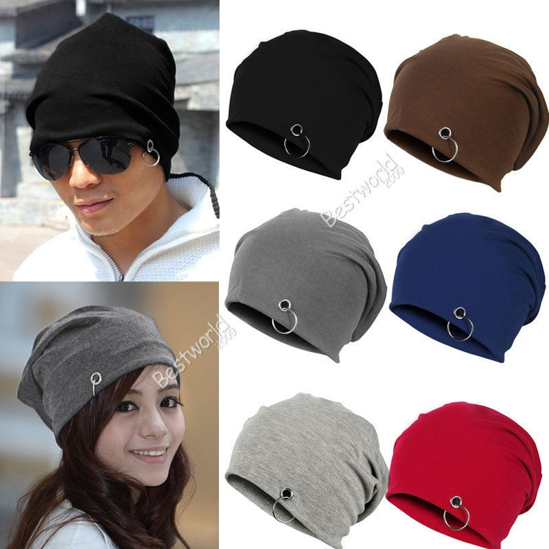 2015 Fashion New Unisex Women Men Winter Ski Hat Slouch Baggy Hip Hop Knit Crochet Cap Beanie 6 Colors(China (Mainland))