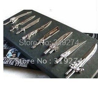 Final Fantasy 7 FF Cloud Strife Blade Sword 8 in Weapon Set Rare Free Shipping