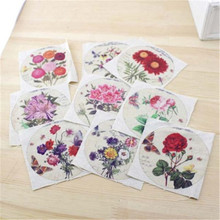 Buy Restoresmall flowers Hand dyed 9Assorted Cotton Linen Printed Quilt Fabric DIY Sewing Patchwork Home Textile Decor 10X10cm for $7.99 in AliExpress store