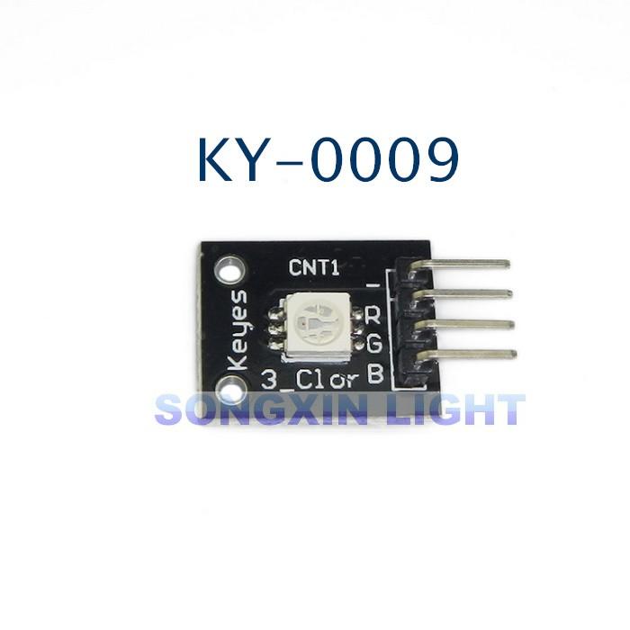 100 pcs KEYES KY-009 3 Colour RGB SMD LED Board Module 5050 Full Color LED DC 5V for Arduino(China (Mainland))