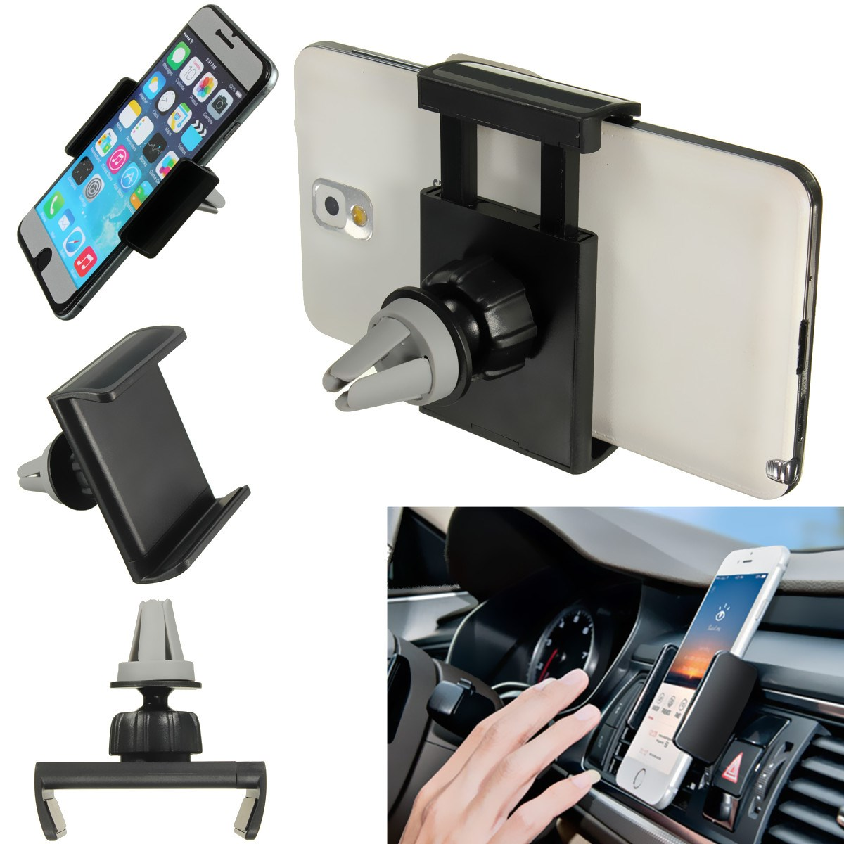 Best Price Universal Car Air Vent Mount Cradle Cell Mobile Phone Stand Holder For iPhone 6 6 Plus Phone GPS for Sony for htc(China (Mainland))