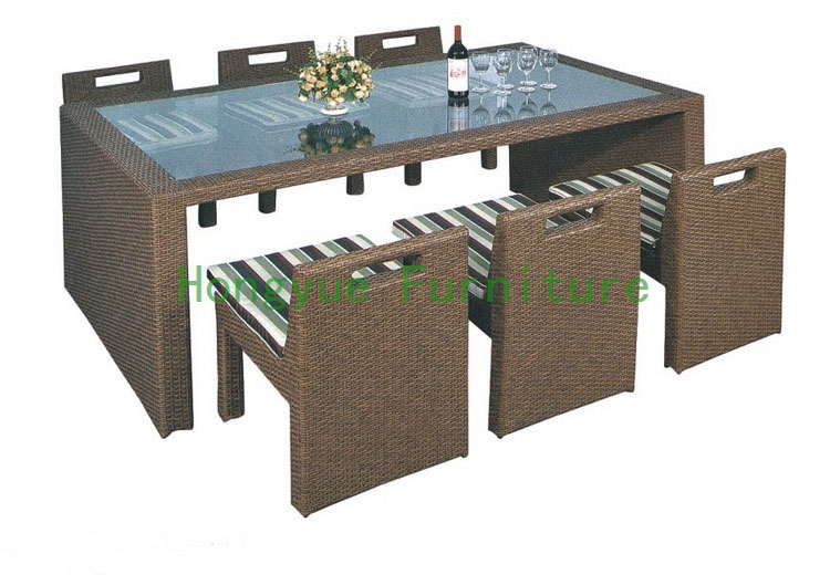 pe rattan dining set furniture in dining room sets from