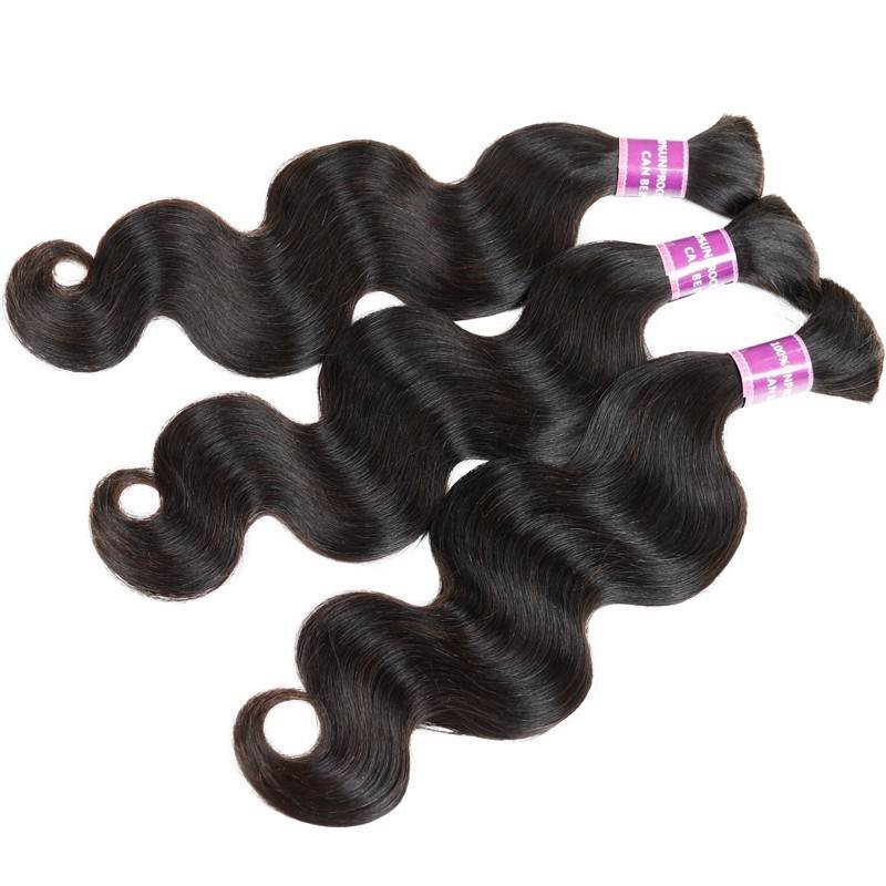 Cheap Price 100% High quality Indian Virgin Hair 100G/Piece Body Wave Human Hair Bulk Hair Extensions No Shedding No Smell
