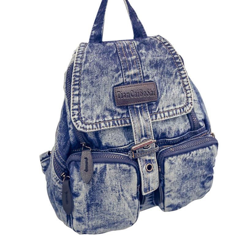 online kaufen gro handel blau jean rucksack aus china blau. Black Bedroom Furniture Sets. Home Design Ideas