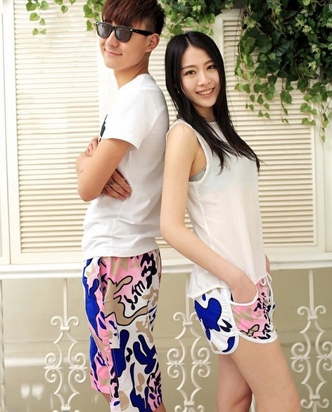 Discount! Shorts Men 2014 Beach short Plus size Fashion short Pants for Lovers women mens swimming shorts(China (Mainland))