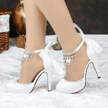 Women's large size bridal shoes
