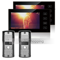 Home Secure Wired 7 inch Color TFT Video Door phone Intercom System With 2 Touch Key
