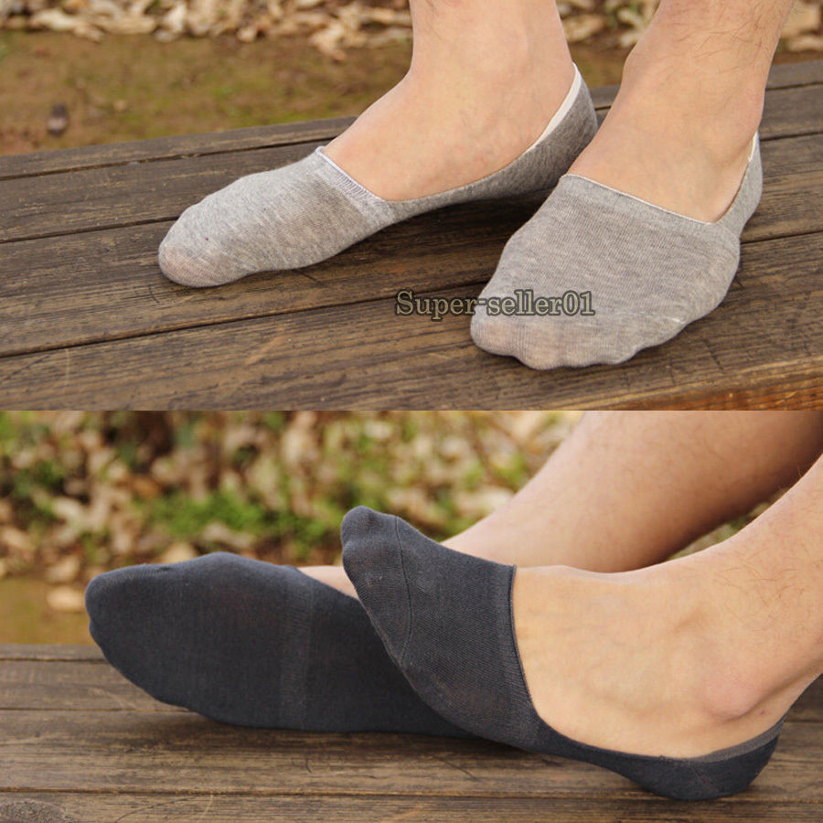 1 Pair Men's Casual Cotton Loafer Boat Non-Slip Invisible Low Cut No Show Socks New(China (Mainland))