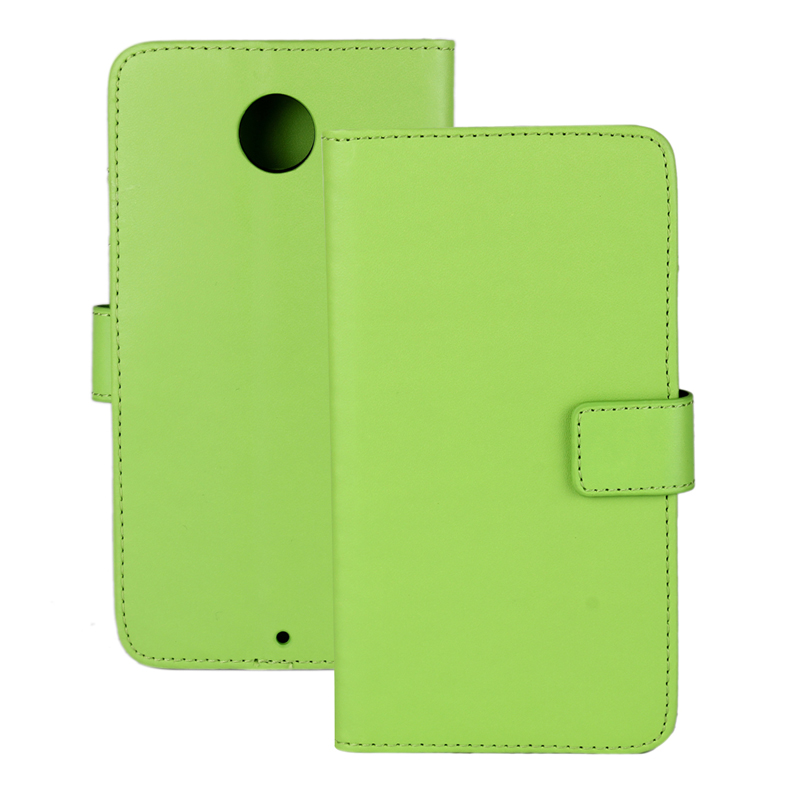 30 pcs/lot Card Slot Flip 100 Grain PU Leather Stand Wallet Case Cover Motorola Google Nexus 6