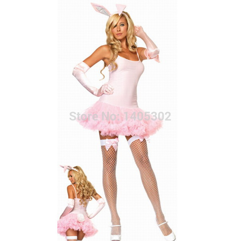 Pink Halloween Costumes For Adults Adult Pink Bunny Costume