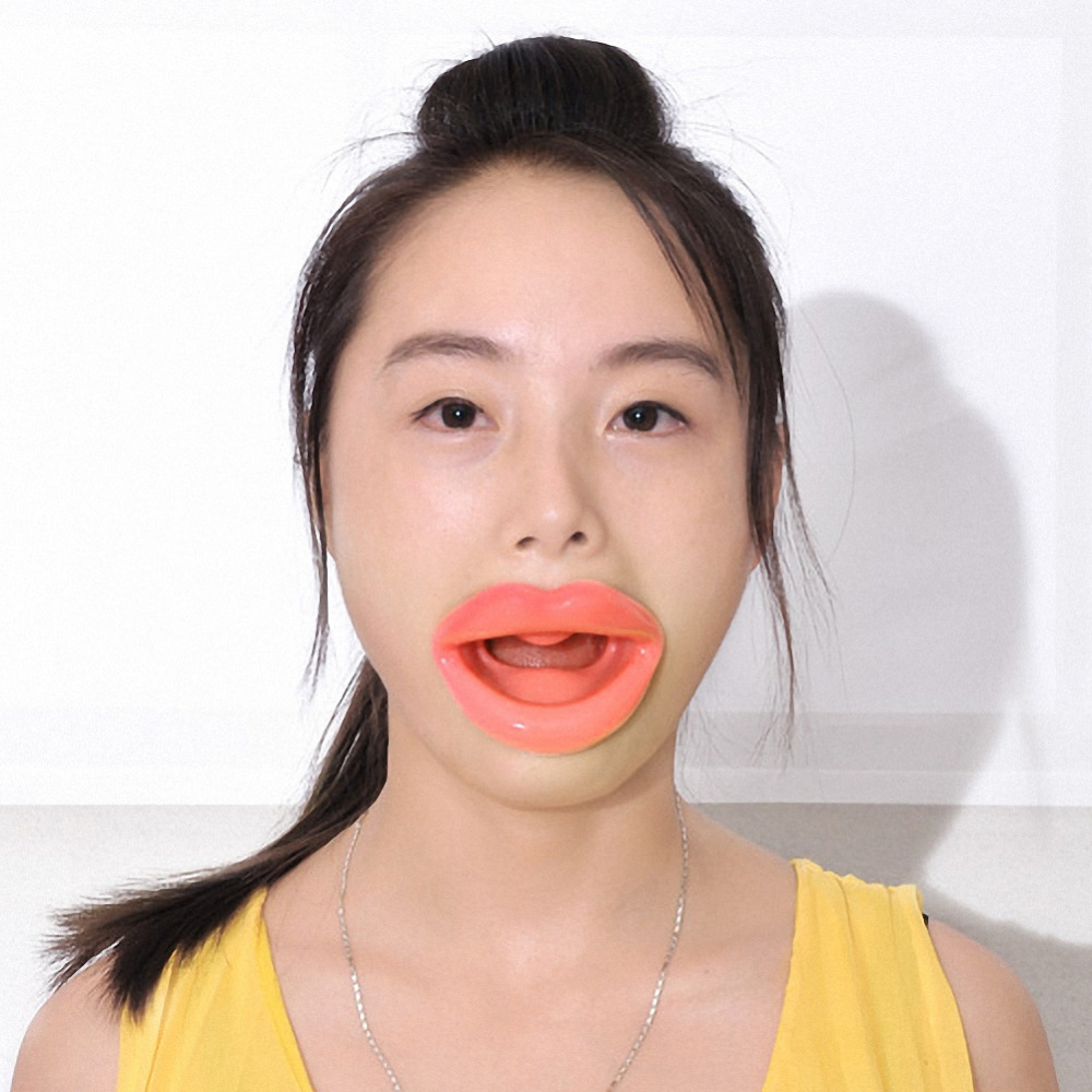 Face Slim Muscle Lips Trainer Tightener Face-lift Slimmer Massage Silicone Rubber Anti-Wrinkle Mouth Oral Exerciser(China (Mainland))