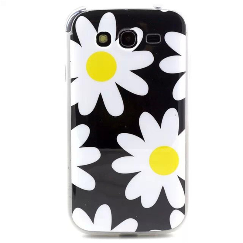 Painted Colorful TPU Soft Plastic Phone Case Back Cover For Samsung Galaxy Grand I9060&Grand Duos I9082
